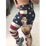 Calça Legging Mulher Maravilha 3d Fitness