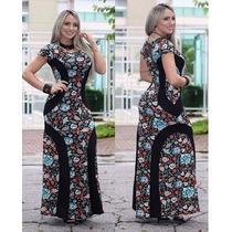 Vestido Longo Discreto Casual Moda Evangélica