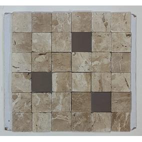 Anticato De Mármore Travertino Com Inox - Mosaico Travertino