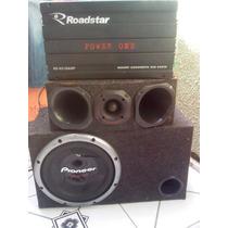 Mod.roadstar Power One Rs-4510-2400w+kitsub Pioneer+corneta