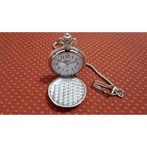 Relógio De Bolso Antigo Prateado Presente Ideal Top !!!!!!!!