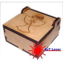 Cajita Comunión Souvenir Fibro Facil Corte Laser ( Caja )