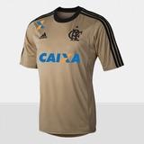 Camisa Flamengo Goleiro adidas Original 2013 Dourada