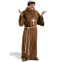 Disfraz De Monje Medieval Sacerdote Para Adultos