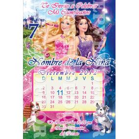 Tarjetas De Invitacion Barbie Princesa Estrella Pop - Epvend