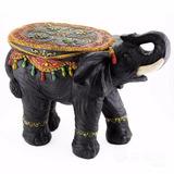 Elefante Mesa Ratona Estilo Hindú - Pintado A Mano - Hermoso
