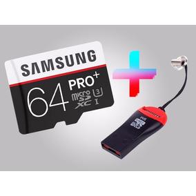 6 Samsung Micro Sd Pro Plus+ 4k Class10 95mb/s 64gb + Leitor