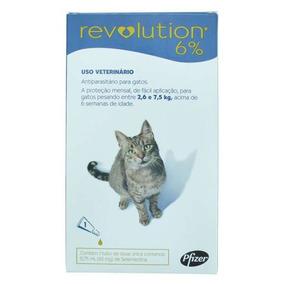 Anti Pulgas Revolution 6% 0,75ml Gatos 2,6 A 7,5kg (3) Unid