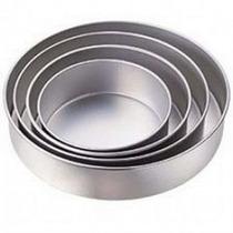 Jogo Com 4 Formas Redondas Para Bolo Em Alumínio