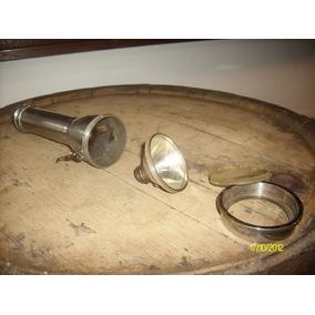 Antigua Linterna De Bombero Cobre Bronce Niquel Original