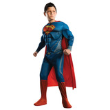 Disfraz De Lujo Superman Niño Musculoso Entrega Inmediata