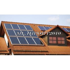 Coletor Solar Placa Aquecedor Aquecimento Agua 1,0m X 1,0m