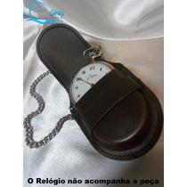 Porta Relógios De Bolso Nova Importada + Corrente De Brinde