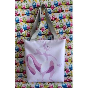 Mini Tote Bag Cartera De Anime Pokemon: Mewtwo