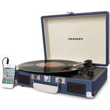 Tornamesa Crosley Tocadiscos De Vinyl Maletín Bluetooth Azul