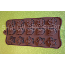 *molde Silicon 15 Flores M1 Gomita Jabon Fondant Chocolate*