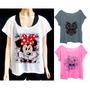Blusa Feminina Estampada Plus Size Minnie Marilyn Caveira