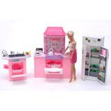 Gloria La Cocina Con Accesorios Para Muñecas Barbie