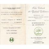 Antiguo Programa . Festival Folklore Chañar Ladeado 1971