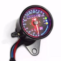 Painel Velocímetro Universal Moto Custom Cafe Racer Preto