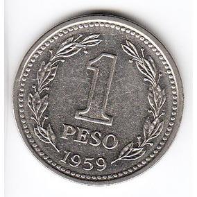 Argentina 1959 Moneda De 1 Peso Cj #254 Sin Circular