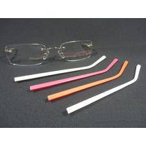 Óculos Dourado Balgriff Sem Aro Troca Hastes Armação P/ Grau