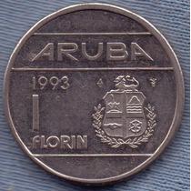 Aruba 1 Florin 1993 * Antillas Holandesas * Beatrix *