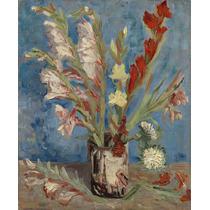 Lienzo Tela Florero Gladiolas Vincent Van Gogh 1886 61x50 Cm
