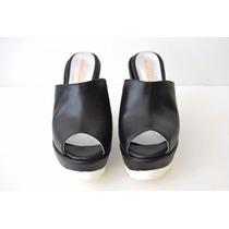 Zapatos Sueco Cuero Mujer Clásico Plataforma Forrado