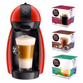 Cafetera Nescafé Piccolo Dolce Gusto Rojo + 48 Capsulas