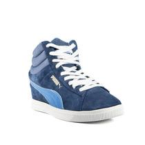 Zapatillas Puma Pc Wedge Basic Sport Mujer Azul