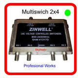 Multiplicador Swich Zinwell Pro 2x4 Works Lnb Fta Skyfreetv