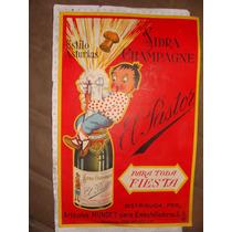 Cartel De Sidra Champagne El Pastor, Articulos Mundet, De Ca