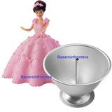 Molde Torta Pollera Vestido Muñeca Princesa Barbie 19cm