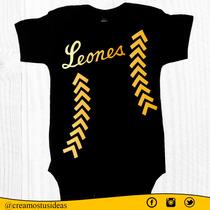 Bodys Leones Del Caracas Para Bebés De 0 A 24 Meses