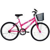 Bicicleta Aro24 Feminina Bella Com Cesta - 310937