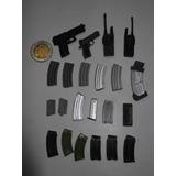 Armas Lote Escala 1/6 Hot+toys Sideshow Pistola Dist0