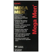 Gnc Mega Men Multi Vitamina 180 Conde