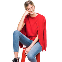 Buzo + Saco Rojo Fórmula 1 Mujer Tejido Punto - Bellmur