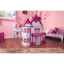 Casa Casinha Em Mdf De Bonecas Palácio Pintura Emily Sonhos