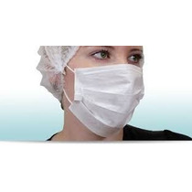 Mascara Tnt Descartavel Tripla C/ Elastico Pct C/100un