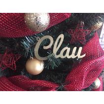 Nombres En Mdf Para Arbol De Navidad. 20cm De Largo