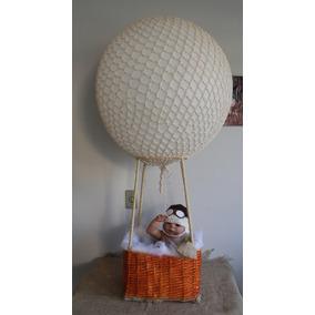 Balão De Ar Quente Replica Para Fotografia Com Crochê Newbor