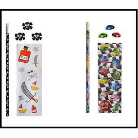 Souvenirs Set Escolares - Lapiz + Gomas + Stickers