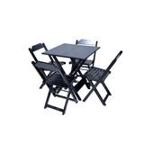 Jogos De Mesas Bar 70x70 Com 4 Cadeiras Madeira Mega Moveis