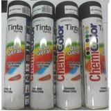 Tinta Spray Preto Fosco Secagem Rapida Multiuso 400ml