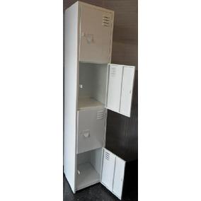 Locker Metalico De 4 Puertas Guardaropa Blanco