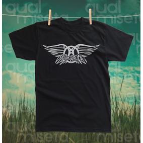 Camiseta Aerosmith Bandas Rock Algodão Impressão Serigrafia