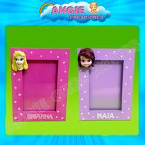 Princesas Disney Portaretrato Souvenir Porcelana Fria Nombre
