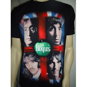 Camiseta Com Estampa Dos Beatles, Bandeira Da Inglaterra!